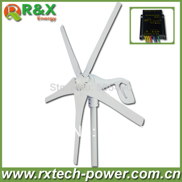 Low-rpm-wind-turbine-generator-12v-wind-generator-with-Wind-Solar-Hybrid-Controller-LED-Display-