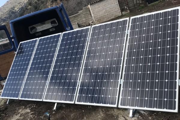 H evrysolar εγκατέστησε αυτόνομο υδριβικό σύστημα 2015watt/h στην περιοχή Ερεσού-Αντίσσης στην Μυτιλίνη για τις ανάγκες του χώρου